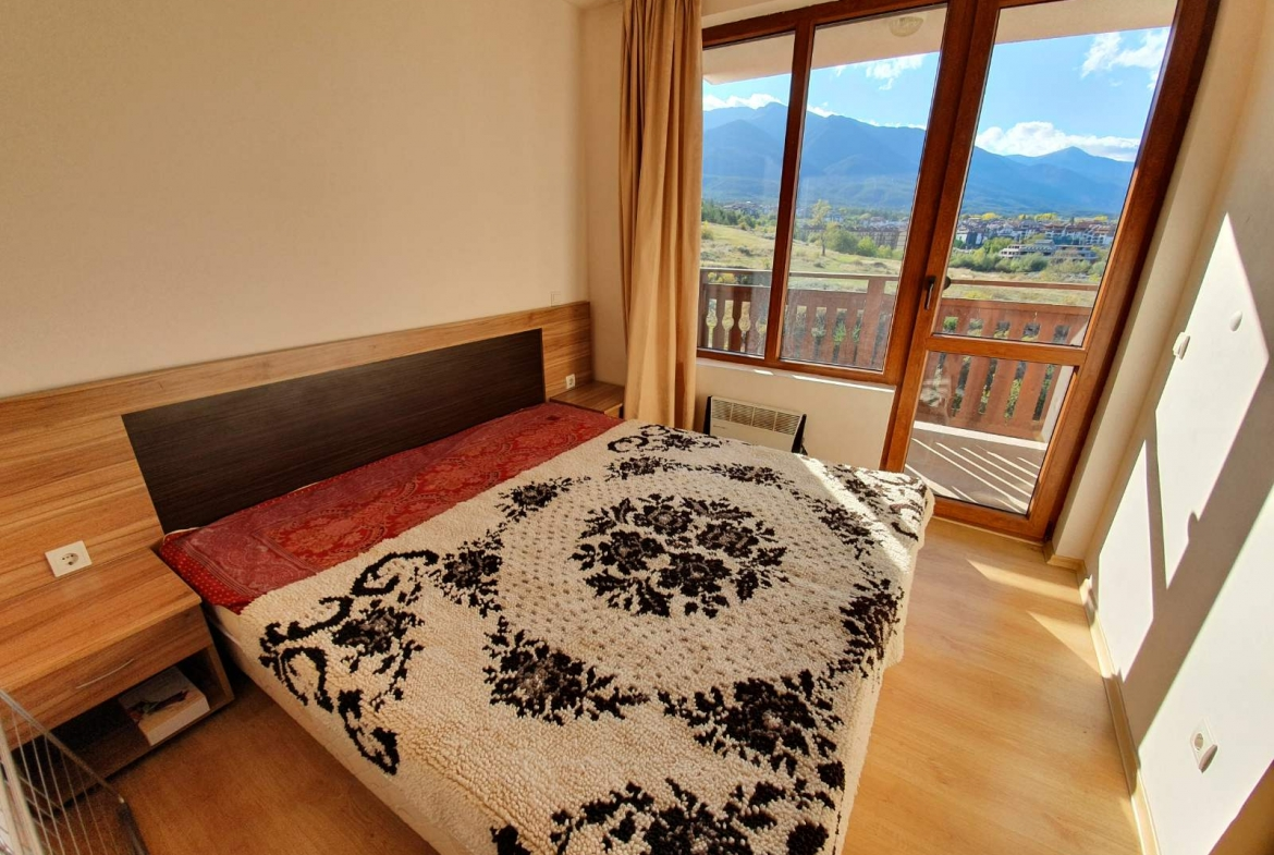 one bedroom apartment with mountain view in bansko