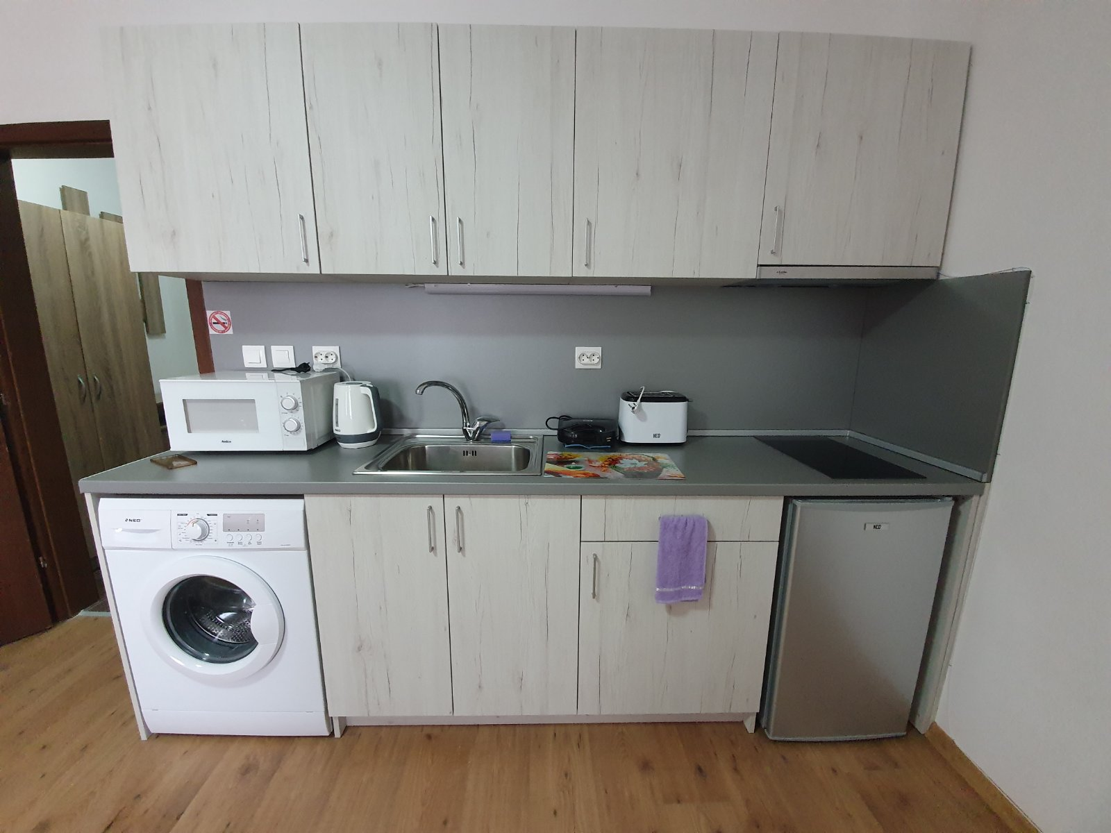fully equipped studio for sale in a residential building
